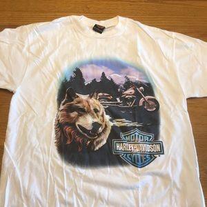Harley Davidson wolf t-shirt